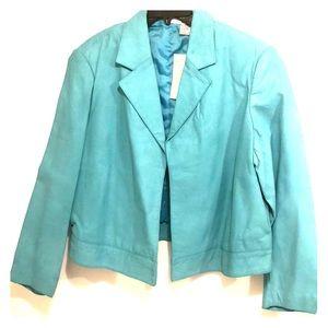 Newport News Turquoise Leather Jacket